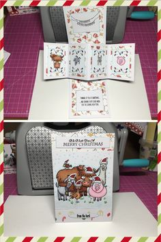 Another twist and pop card using stampin up from the herd stamp set accessories are from lawn fawn stamp sets. Coloured with copic markers. I love making this type of card, it gives your card an element of surprise when it's opened