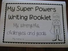 superhero goal writing and craft