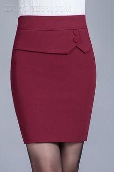 Новости Cute Skirts, Work Skirts, Burgundy Skirt, Skirt Outfits, Dress Skirt, African Dress, High Waist, Beautiful Outfits, Pencil