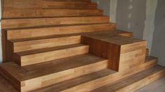 eiken houten trap