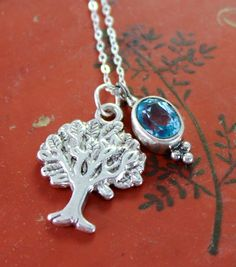 Tree of Life and Topaz Necklace - Dharmashop.com