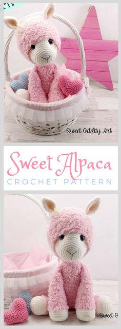 Crochet Alpaca Amigurumi Pattern (PDF format) | Alpacas, Amigurumi ...