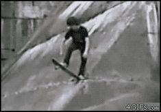 Funny skate fail GIF.