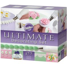 Wilton Ultimate Professional Cake Decorating Set, Purple- Discontinued By Manufacturer Cake Decorating Kits, Wilton Cake Decorating, Cake Decorating Techniques, Wilton Cakes, Cupcake Cakes, Cupcake Piping, Cupcakes, Wilton Tools, Food Crafts