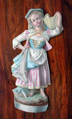 GIANT VICTORIAN DIE CUT SCRAP FISHERMAN'S DAUGHTER ADVERT SHOES PATERSON N.J. | eBay