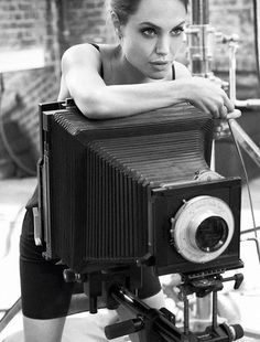 Shooting Film: Angelina Jolie's Self-Portraits with a #Hasselblad