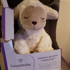 SwaddleMe Mommie's Melodies Soother Lamb New Cry Activated 6 songs Baby Crib Mobile, Baby Cribs, Lambs For Sale, Vtech Baby, Baby Calm, Help Baby Sleep, Rock A Bye Baby, Up Theme, Sleeping Through The Night