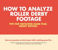 Analyzing Roller Derby Game Film: Enemy Edition