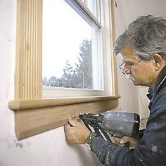 25 Astonishing Eksterior & Interior Window Trim Ideas for Your Dreamed House! - Home Decor Ideas Interior Windows, Interior Trim, Home Improvement Projects, Home Projects, Trim Carpentry, Window Casing, Window Molding Trim, Window Trims, Wood Molding