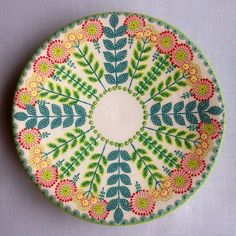 In my many years of scoping out flea markets, craft fairs, juried art exhibitions and gift shops, I've encountered a lot of ho-hum pottery and ceramics. Pottery Painting Designs, Pottery Designs, Paint Designs, Kintsugi, Ceramic Painting, Ceramic Art, Painted Plates, Hand Painted, Painted Ceramics