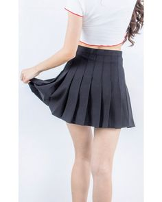 Cold Black Heart | Rose Pleated Mini Skirt