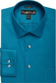 Pronto Uomo Teal Slim Fit Dress Shirt - Slim Fit (Extra Trim) | Men's Wearhouse