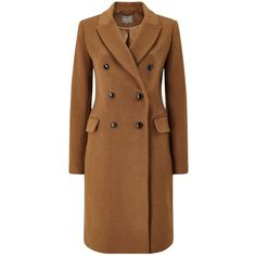 Phase Eight Caterina Coat (57.595 HUF) ❤ liked on Polyvore featuring outerwear, coats, jackets, patterned wool coat, patterned coat, brown double breasted coat, phase eight and double breasted long coat