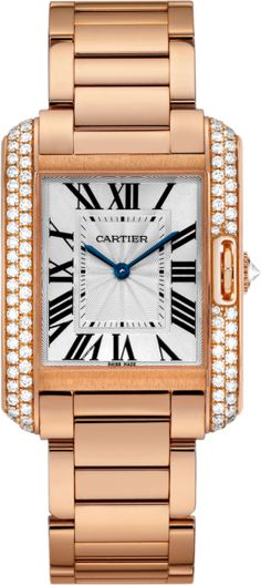 #Cartier Tank Anglaise Pink (Rose) Gold #Watch