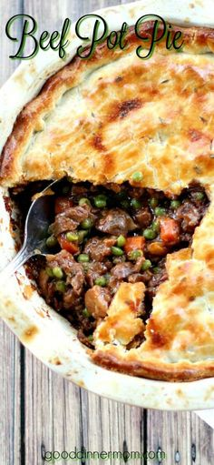 The filling in this Beef Pot Pie recipe is guaranteed to create the best, deep-flavored pot pie you've ever tasted. The ultimate comfort food meal.