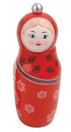 Babuschka Pfeffermühle pepper red babushka