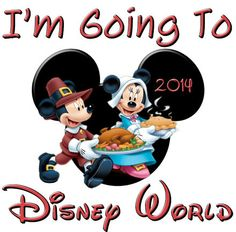 I'm going to disney world for thanksgiving!  Mickey Mouse Minnie Mouse t shirt iron on transfer diy custom decal digital file download pilgrim