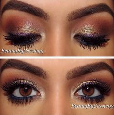 """""""Mittens"""" eyeshadow pigments http://thepageantplanet.com/category/hair-and-makeup/"""