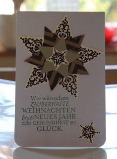 Weihnachtskarte Sternenzauber. Zuerst gebloggt auf Leben am Rande der Zivilisation.