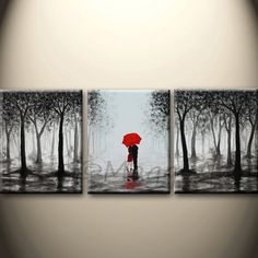 this acrylic painting will be hand painted on three inch thick gallery wrapped canvas, total size: edges are staple free and painted (love canvas painting awesome art) Love Canvas Painting, Rain Painting, 3 Piece Canvas Art, 3 Piece Painting, Pour Painting, Acrylic Wall Art, Acrylic Paintings, Painting People, Oeuvre D'art