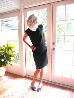 SOLD!  Vintage Kay Windsor black cocktail dress The Look You by BopandAwe #vintage #vintagelove #style #fashion