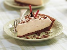 Irish Cream Pie - no bake if I use a pre-baked cookie crust pie shell. Kahlua and cream for a coffee twist, amaretto and cream for an almond twist......