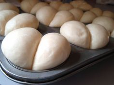 """Lambert's Throwed Rolls-- A pinner writes """"I have been using this recipe for 15 years now, and it is always a hit. I highly recommend it! I always make more than we need for Thanksgiving or Christmas because they are so good with leftover ham and turkey."""" Even if you've never made rolls before, you will be a hero with these (just read the comments section under the recipe!)."""