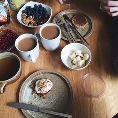 "Lena on Instagram: ""pancake morning with @jdubois___ ♡"""
