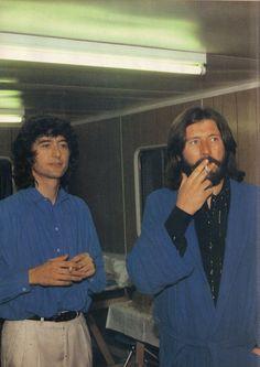 Jimmy Page and Bonzo at Knebworth, 1979