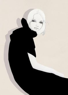 Fashion illustration | pretty, black & white fashion drawing | Elisa Mazzone