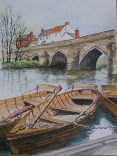 Watercolour St Johns College, Durham, Watercolour, Cathedral, Two By Two, Spirituality, England, River, Group