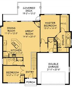 Simple house plans with great room 1500 sq ft house for 1500 sq ft house plans with basement