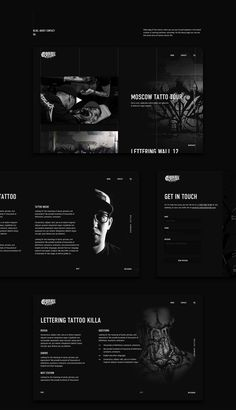 UX/UI Design, Web design on Behance Website Design Layout, Web Layout, Layout Design, Design Social, Ui Ux Design, Logo Design, Web Design Black, Tattoo Website, Interface Web