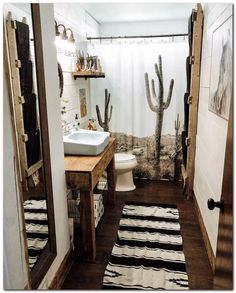 Home Interior Salas brown Bathroom Decor Southwestern desert theme bathroom decor Southwestern Decorating, Western Bathroom Decor, Western Bathrooms, Bathroom Decor Apartment, Brown Bathroom Decor, Cactus Shower Curtain, Bathroom Decor, Brown Bathroom, Apartment Decor