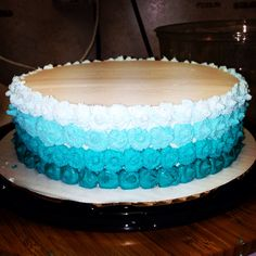 Dairy Queen cake decoration #dairyqueen #dq #cake #decorations #ombre