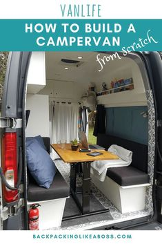 How to build your own campervan? Travel Europe in a campervan. Read here how I c… - Van Life Camping Table, Camping Car, Camping Hacks, Camping Ideas, Camping List, Best Campervan, Campervan Bed, Campervan Hacks, Vw Lt