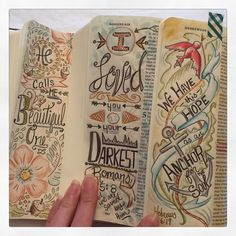 """Loving my new #journalingbible ... My way of studying the #bible and the perfect #keepsake #journalingbiblecommunity #bibleart #bibleartjournaling…"""