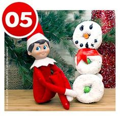 Donut Snowman | Santa's Office | Christmas Recipes | Children's Activities | Elf on the Shelf Blog