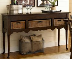 Paula Deen Down Home Sideboard With Baskets UF-193679