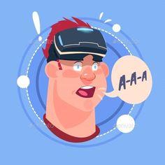 Man Screaming Male Emoji Wearing 3d Virtual