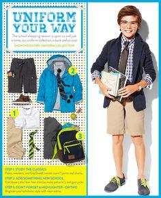 Gap Kids, Boys uniform collection