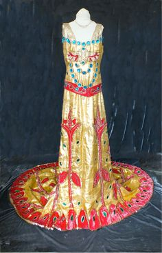 1930s Lamé Dress Egyptian Revival Gown by PenniesLondon on Etsy, £1295.00