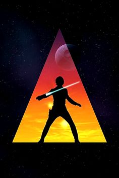 * Star Wars * i love how this looks with the silhouette and the triangle backing think of other characters to use this style with