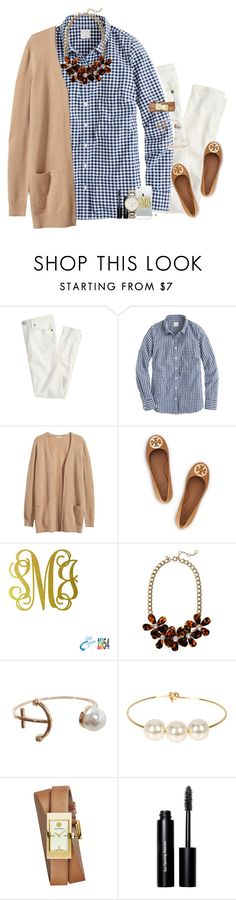 """""""20 away from 2,000!!"""" by gourney ❤ liked on Polyvore featuring J.Crew, H&M, Tory Burch, Humble Chic, Jules Smith, Bobbi Brown Cosmetics, Kate Spade, women's clothing, women and female"""