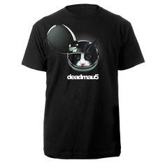 La camisa de deadmau5. Me gusta la musica de deadmau5. La camisa es negro con la gata.