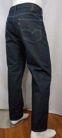 Levi Strauss 501 38 x 32 Dark Wash Cotton Button Fly Men's Jeans Jeans Button, Denim Jeans, Dark Wash Jeans Mens, Tapered Jeans, Levi Strauss, Mens Fitness, Levis, Men's Clothing, Buttons