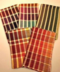 5er Set Coton vaisselle foulards 50x70cm de cuisine foulards sèche Lingettes violet à carreaux