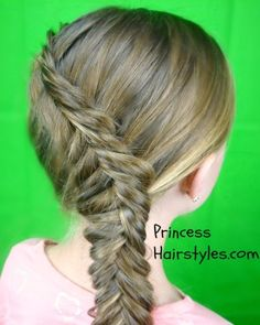 Inside out fishtail braid tutorial