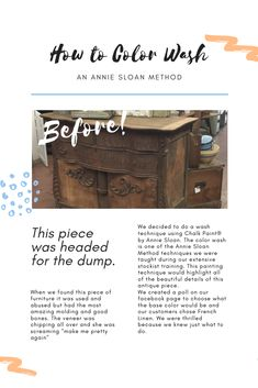 Step by Step Color Wash Technique – Bird& Nest Gifts & Antiques, Annie Sloan Chalk Paint Furniture, Chalk Paint Finishes, Distressing Chalk Paint, Chalk Paint Colors, Annie Sloan Paints, Chalk Painting, Diy Chalk Paint Recipe, Homemade Chalk Paint, Repurposed Grandfather Clock