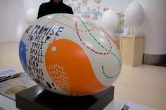 A great egg from the Big Egg Hunt - the world's largest egg hunt happening across London (We made the stands for all the eggs! www.piggotts.co.uk
